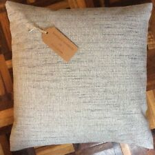 """New 16""""x16"""" Marks & Spencer pale grey tweed fleck style fabric cushion cover"""