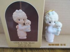 Precious Moments 1987 Dated Ornament Love Is The Best Gift Of All 109770