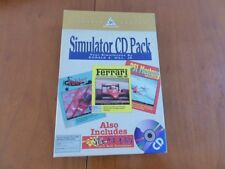 MAC Simulator CD PACK P51 Mustang Ferrari GP Fobber / no Amiga Atari IBM PC
