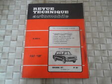 REVUE TECHNIQUE FIAT 128 BERLINE COACH BREAK