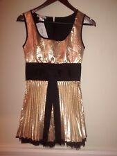 BNWT 10 JONES & JONES GOLD SKATER PROM DRESS