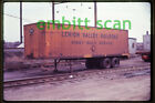 Original Slide, Freight LV Lehigh Valley Piggyback Trailer T-69 Newark NJ, 1970