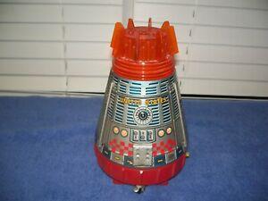 "Vintage Tin US Nasa Space Capsule Toy w/ Astronaut 9 1/4"" Japan"