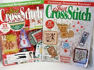 2 Just Cross Stitch Magazines Christmas Ornament Preview Issues July Aug 2010/12