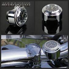 "Motorcycle 1""  7/8"" Handlebar Aluminum Clock Dial For Harley Cruiser Glide Dyna"