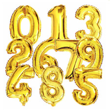 """Large Foil Number Balloons 40"""" 100cm Gold Helium Birthday Anniversary Decoration"""