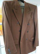 Loro Piana Men's Cashmere Double Breasted Evening Jacket Cocoa Brown Size 40R