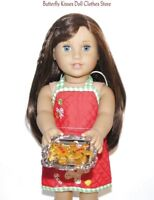 Christmas Gingerbread Apron & Cookie Tray 18 in Doll Clothes Fits American Girl