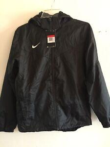 Nike Team Sideline Rain Coat Windbreaker Black White Size YL Boy's Only