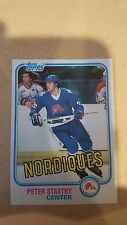 1981-82 PETER STASNY NORDIQUES ROOKIE #39 NM/MT