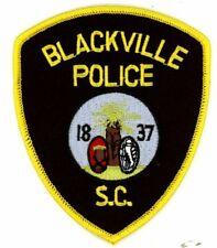 BLACKVILLE POLICE SOUTH CAROLINA SC NEW COLORFUL PATCH SHERIFF
