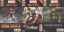 MARVEL MOVIES N° 1-2-3 Panini Iron Man 2 AVENGERS CAPTAIN AMERICA