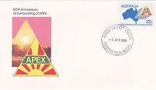 1981 APEX 50th Anniversary of Foundation FDC - Perth WA 6000 PMK