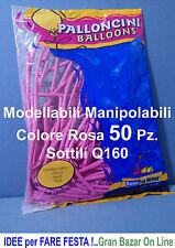 PALLONCINI MODELLABILI MANIPOLABILI SOTTILI COLORE ROSA 50 Pz. Q160 D2 ATOSSICI