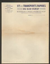 LIBOURNE (33) SOCIETE de TRANSPORTS RAPIDE DU SUD-OUEST