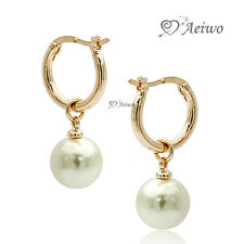 EARRINGS STUD 9K GF 9CT SOLID ROSE GOLD PEARL