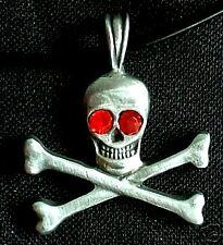 TESCHIO PUNK ROCK COLLANA con ciondolo teschio Pirata Gotico