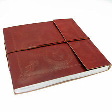 Fair Trade Handmade Embossed Large Leather Photo Album Scrapbook Sketchbook