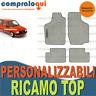 PER OPEL CORSA A (82-93) TAPPETINI per AUTO VELLUTO BEIGE E GOMMA + RICAMO TOP