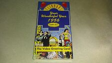 FLIKBAKS YOUR WONDERFUL YEAR 1956 HAPPY 40TH THE VEDIO GREETING CARD VHS, SEALED