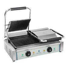 Kontaktgrill Elektrogrill Elektro Doppel Panini Toaster Grill Edelstahl 2200W