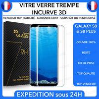 ★ Vitre Film Protection VERRE Trempé Incurvé Total Écran Samsung Galaxy S8/Plus