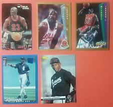 Lot of 5 Michael Jordan Cards World Com Calling Baseball Basketball Barons Sox