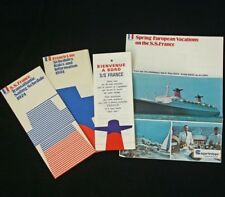 "CGT FRENCH LINE SS ""FRANCE"" Cruise Brochure Lot 74"