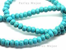 20 perles turquoise rondelles dimensions 4 x 6 mm