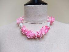 Pink Sea Shell & Pearl Necklace  Boho Hippie Mermaid
