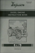 Ferguson Te-f20 Diesel Engine Instruction Book - 819014m1