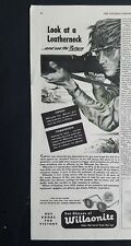 1943 Wilsonite military soldiers sunglasses look at a leatherneck gun ad