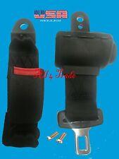 1 Universal Car Seat Belt Lap 2 Point Safety Travel Adjustable Retractable Auto