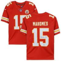 PATRICK MAHOMES Autographed Kansas City Chiefs Red Nike Limited Jersey FANATICS