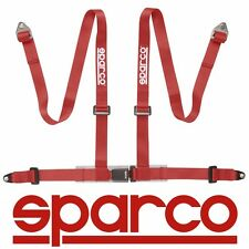 "Sparco 2"" 4 Point 4pt Bolt-In Street Harness Seat Safty Belt - RED 