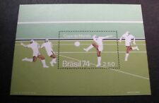 Souvenir Sheets  Brazil  Scott# 1351 Soccer 1974   MNH C451
