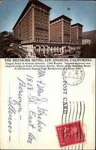 Los Angeles California USA Color Postkarte 1952 gelaufen The Biltmore Hotel