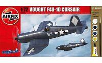 Airfix Vought F4U-1D Corsair Set W/ Glue, Paints,& Brush 1:72 Model A68211M
