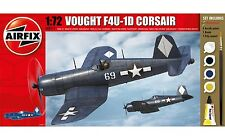 Airfix Vought F4U-1D Corsair Set W/ Glue, Paints,& Brush 1:72 Model A68211M