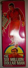 """DENYS FISHER SIX MILLION DOLLAR MAN 12"""" FIGURE BOXED COMPLETE VG CONDITION"""