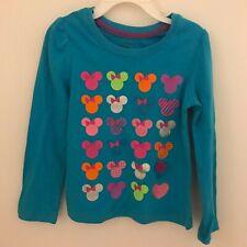 Official Disney Girls 4T Long Sleeve Blue Minnie Mouse Shirt