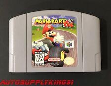 MARIO KART 64 (Nintendo 64 N64, 1996) Video Game Cartridge First Print Tested