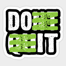 Don't Quit Do It Motivation Decal Macbook Laptop Window Glass Quote Sticker