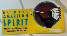 NATURAL AMERICAN SPIRIT YELLOW METAL SIGN TOBACCO CIGARETTE GARAGE ART
