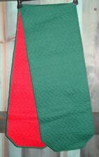 "Red & Green Reversible Table Mantle Runner Cloth 12.5"" x 70"""
