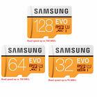 Samsung 32GB 64 128/256 Class 10 MicroSDHC XC 4K HD TF EVO FHD ULTRA Memory Card