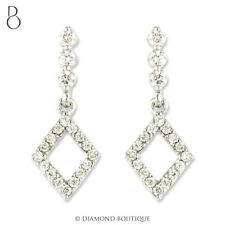 Butterfly Drop/Dangle Very Good Fine Diamond Earrings