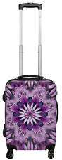 Hartschalen Koffer Trolley Reise Urlaub Handgepäck Motiv PM Purple Flower Gr. M