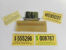4 Vtg Michigan Small Game Hunting License Back Tags 1967 1968 1969 1973 & Holder
