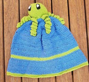 Boys girls child's Spring Summer bucket style hand made cotton Sun Hat octopus